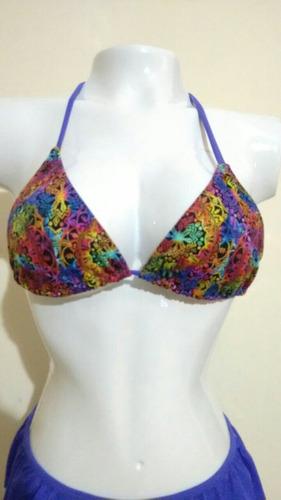 vestido de baño dos piezas talla m color lila