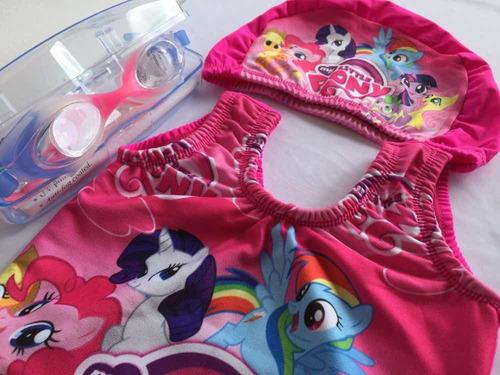 vestido de baño estampado infantil + gafas + gorro