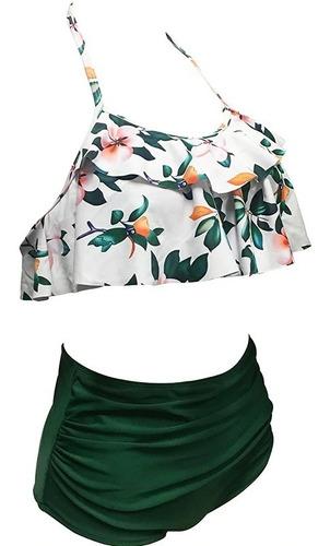 vestido de baño mujer bikini traje top campesino + panty