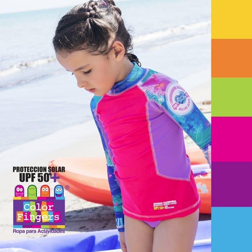 0a70d452e vestido de baño niña con protección solar 5027 natación. Cargando zoom.