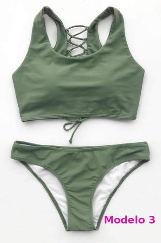 vestido de baño traje bikini unicolor