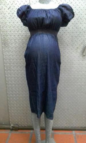 vestido de bluejeans materno/ embarazadas