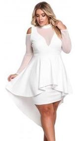ccfeba390687 Vestidos De Noche Para Gordas - Vestidos de Mujer Corto Blanco en ...