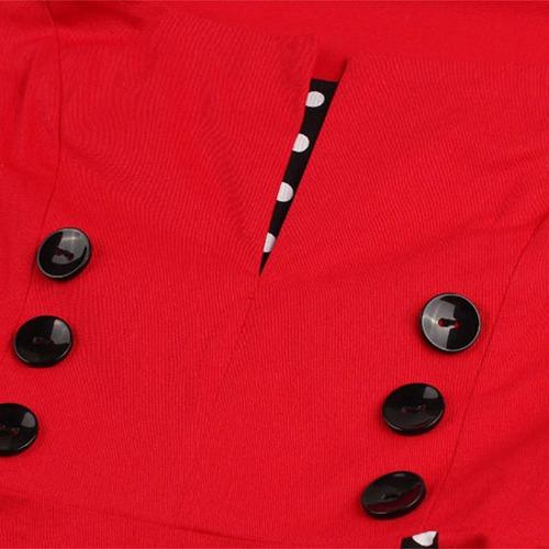vestido de bolinha anos 60 festa vintage retrô bola 50 pin01