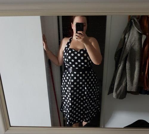 vestido de bolinha anos 60 festa vintage retrô bola 50 pin15