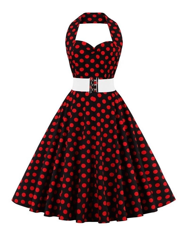 a59d68915 Vestido De Bolinha Anos 60 Retrô Vintage Plus Size Poa P12 - R$ 185 ...