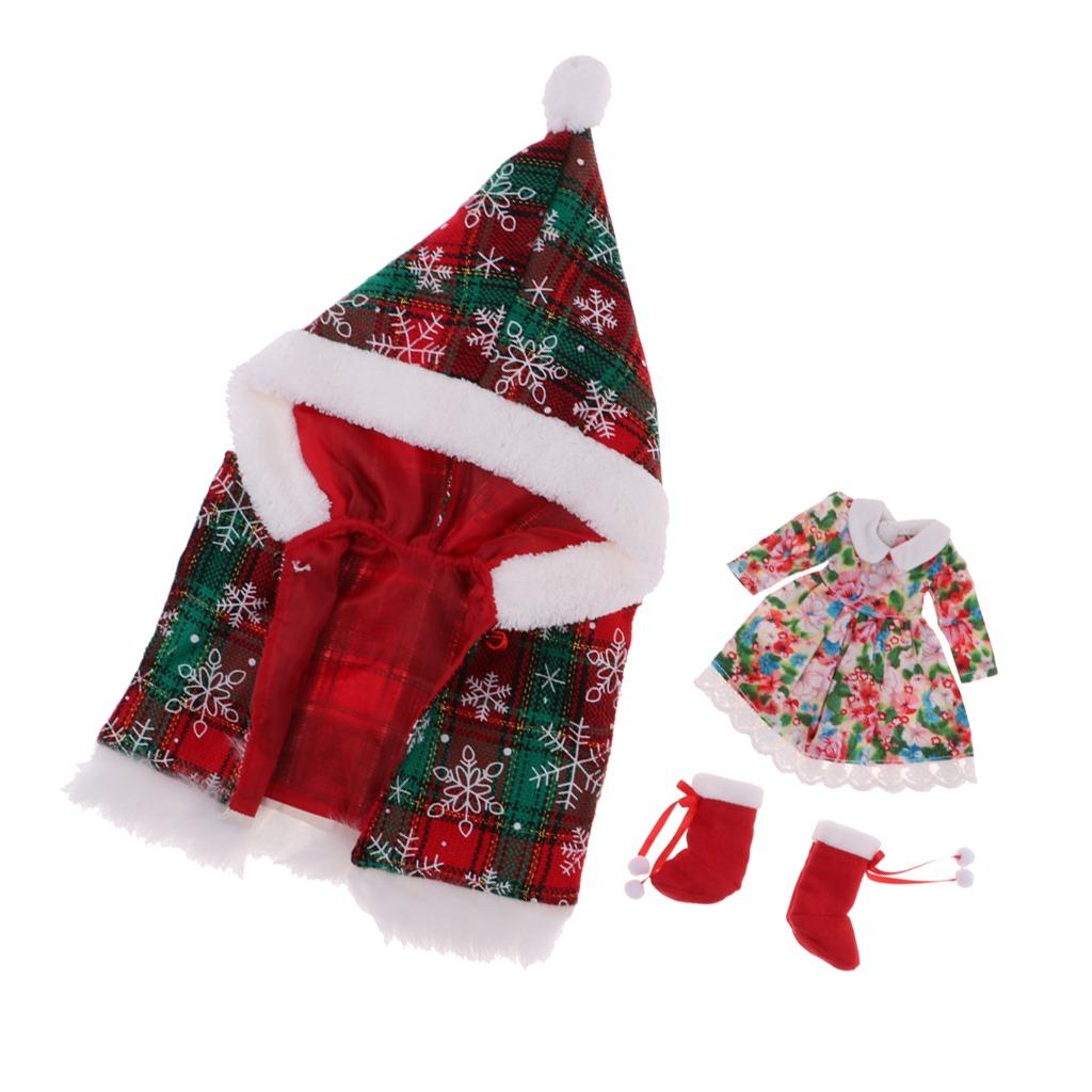 Vestido De Capa De Navidad Muneca Juegos Para Ropa De Mune