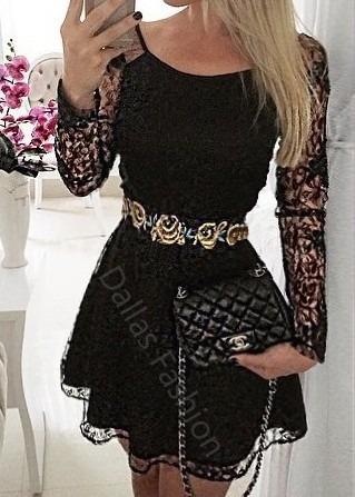 Vestido de festa de casamento curto preto