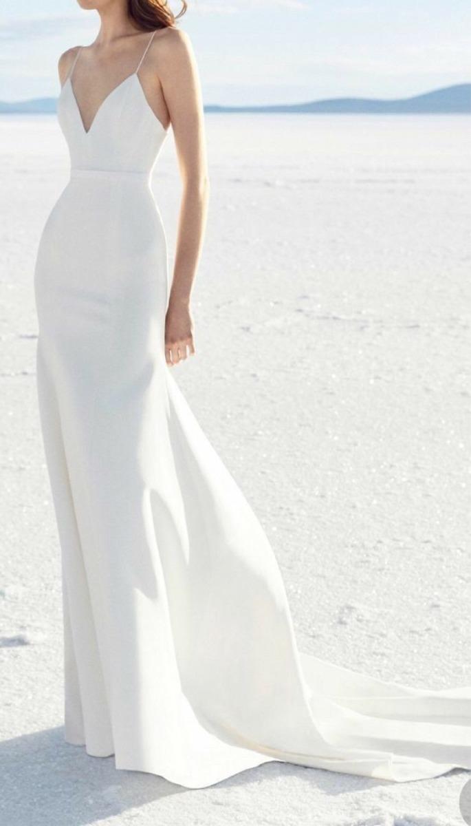 Vestido De Casamento Simples Lindo Radiante Dia Praia Campo
