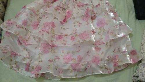 vestido de ceda infantil de festa peça unica tamanho 10