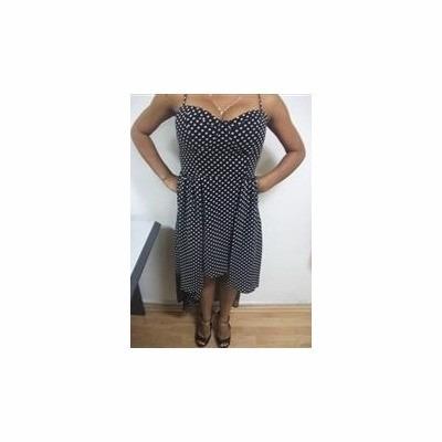 vestido de coctel de punticos usado talla s tienda virtual