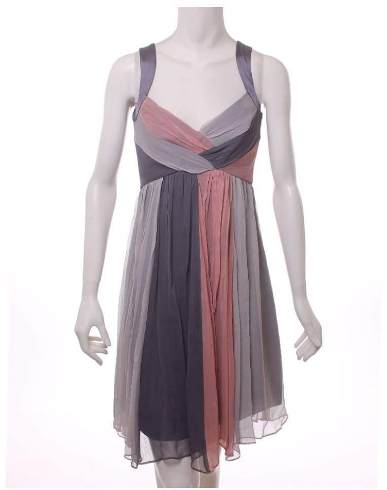 2c51a5cdce Vestido De Coctel Gris Con Rosa Talla 6 Nuevo -   800.00 en Mercado Libre