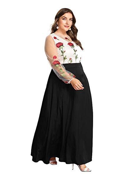 1f9541913c7 Vestido De Cóctel Maxi Elegante Tallas Grandes Negro Esprlia ...
