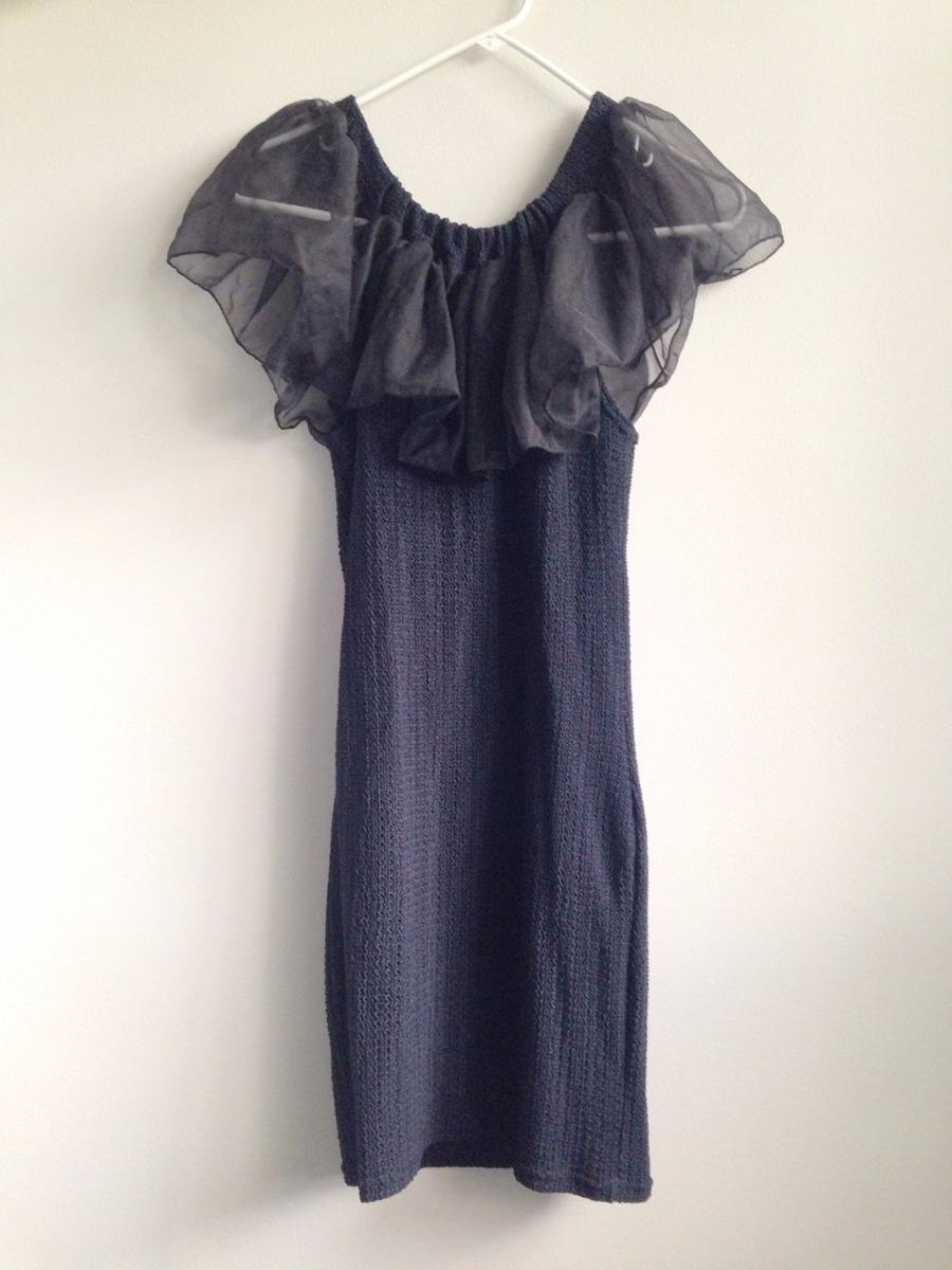 Vestido De Cóctel Negro Con Adorno Delantero - Tela Spandex - U$S 25 ...