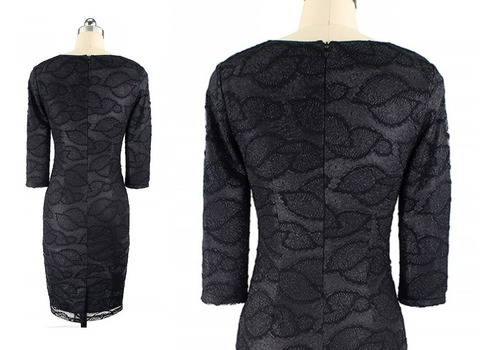 vestido de cóctel - oficina (0101142)  elbauldecorina