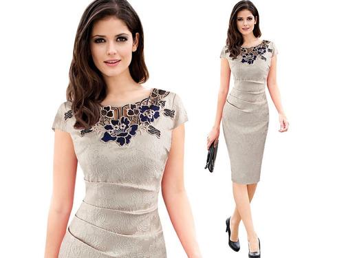 vestido de cóctel - oficina - fiesta 0101158  elbauldecorina