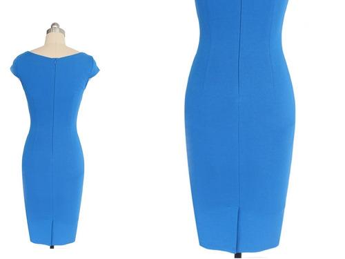 vestido de cóctel - oficina - fiesta 0101161  elbauldecorina