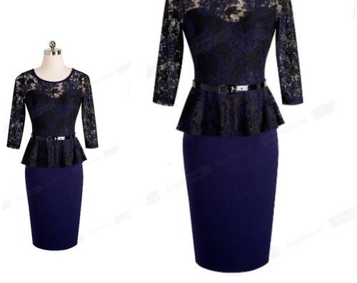 vestido de cóctel - oficina - fiesta 0101162  elbauldecorina