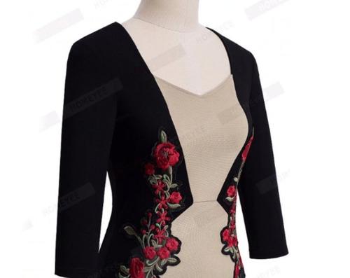 vestido de cóctel - oficina - fiesta 0101163  elbauldecorina