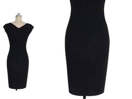 vestido de cóctel - oficina - fiesta (010190) elbauldecorina