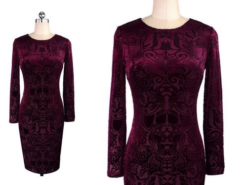 vestido de cóctel - oficina - noche (0101117) elbauldecorina