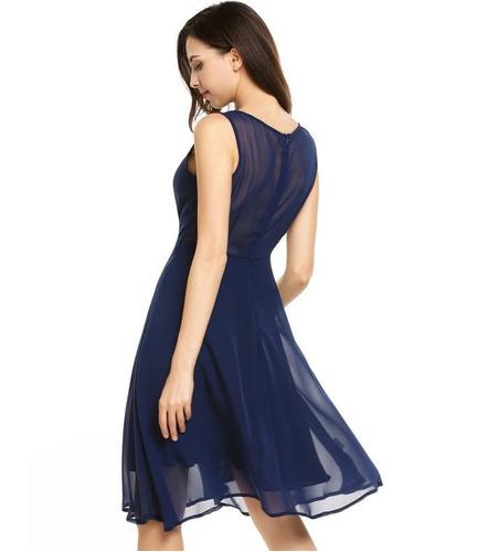 vestido de coctel sin mangas ocacional