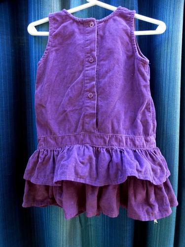 vestido de corderoy minimimo para bebe 6-9 meses