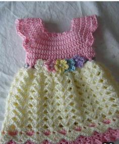 df7269be3 Vestido Croche Curto Menina - Vestidos para Meninas Médio com o ...