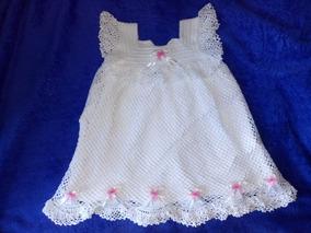 f53228e49abf Vestido Infantil Croche 1 Ano - Calçados, Roupas e Bolsas com o Melhores  Preços no Mercado Livre Brasil