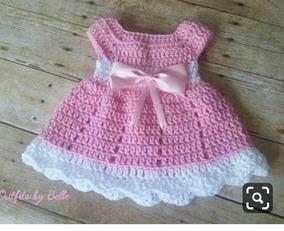 7f3ff9746341 Vestido Infantil Croche - Calçados, Roupas e Bolsas com o Melhores Preços no  Mercado Livre Brasil