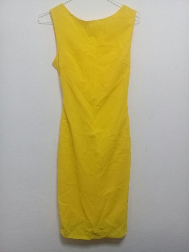 466924fd682 vestido de dama amarillo importado talla s. Cargando zoom.