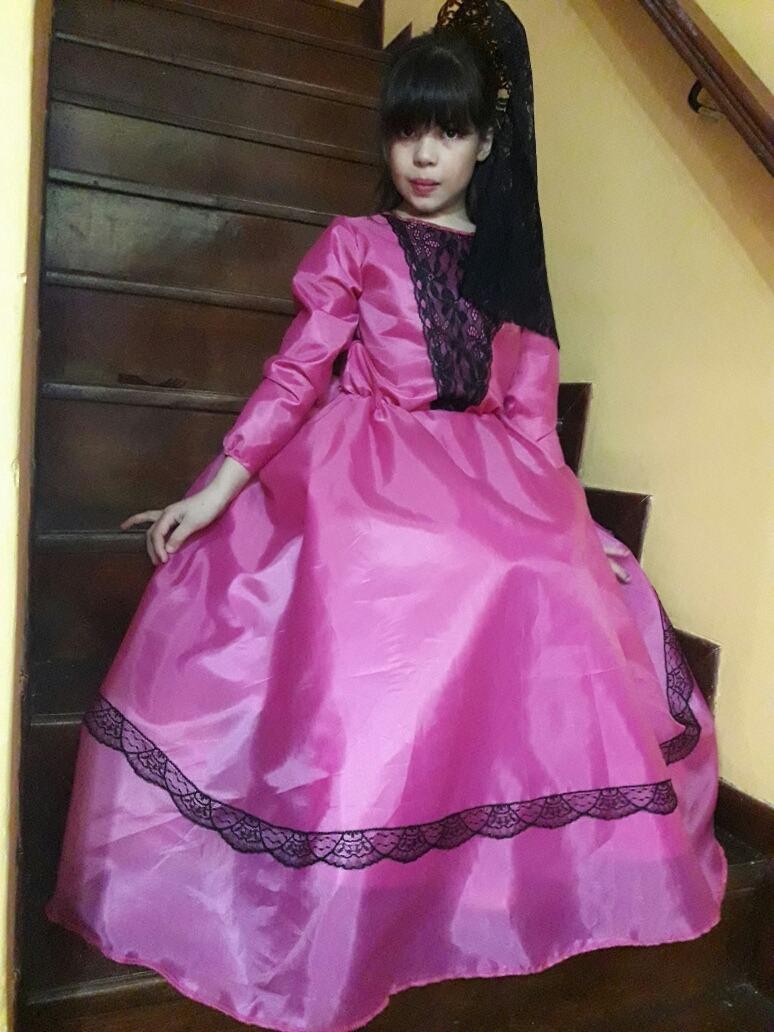 Vestido De Dama Antigua Para Niñas - $ 650,00 en Mercado Libre