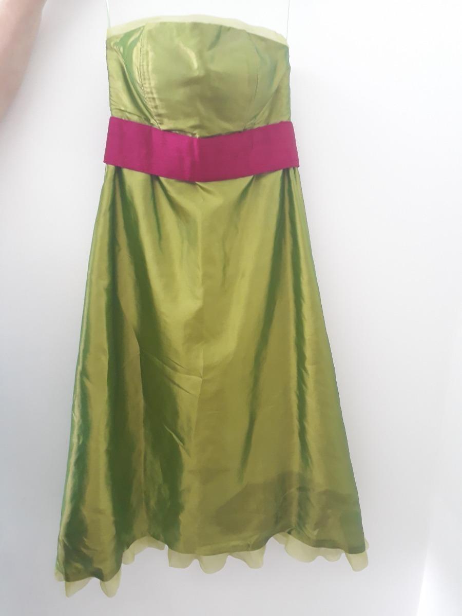 despeje buena calidad gran selección Vestido De Dama Coctel Verde Y Fucsia