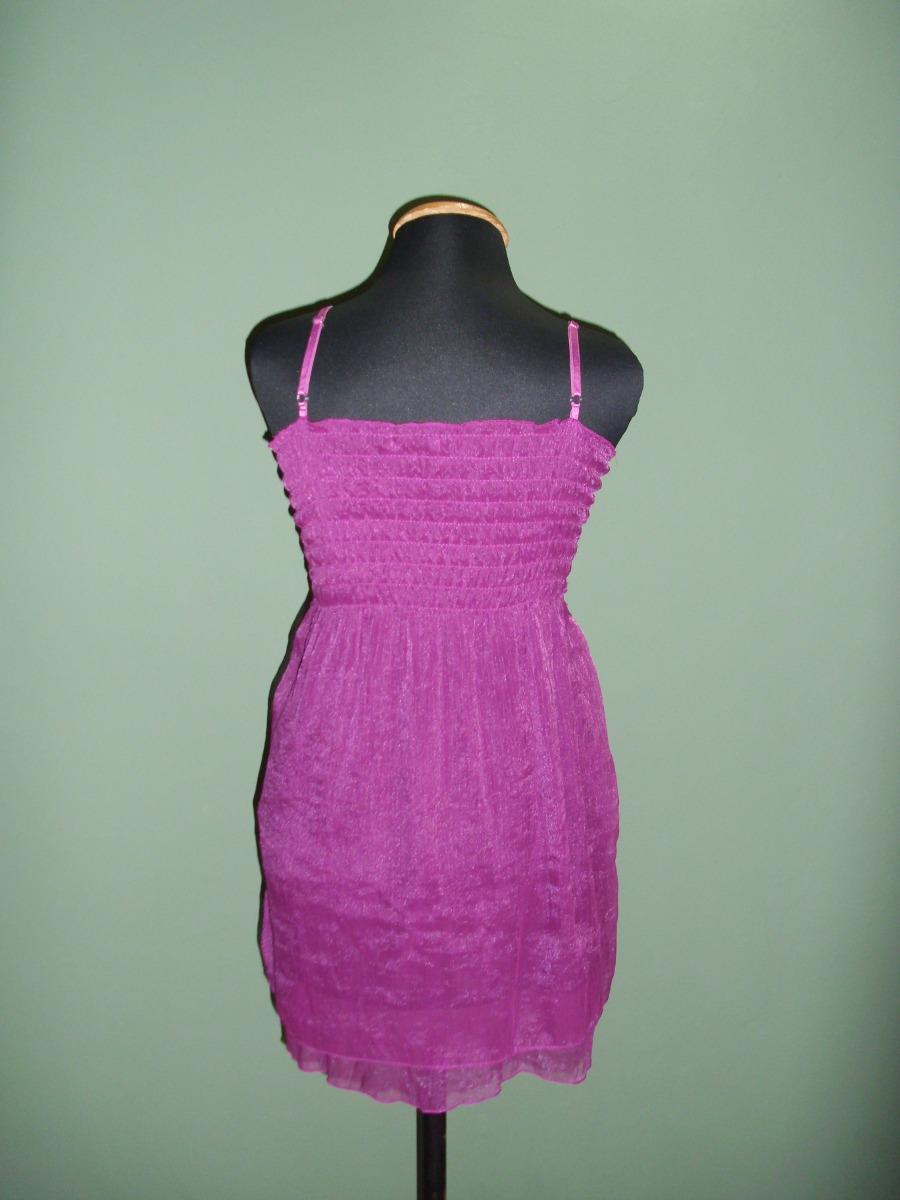 Vestido De Dama De Gasa, En Hermoso Color Fucsia. - $ 750,00 en ...