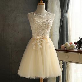 0215bb22f Vestido De Dama De Honor De Encaje Bordado De Malla De Tul