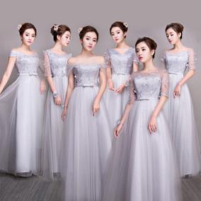 Vestido De Dama De Honor Falda Larga 6 Modelos