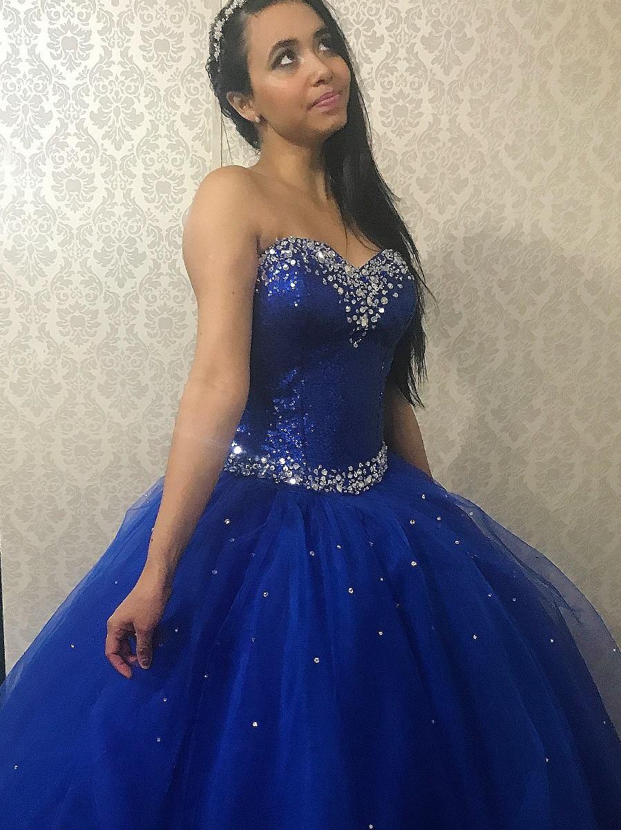 f9a2f0b190 vestido de debutante azul royal - 2 em 1 (festa de 15 anos). Carregando  zoom.