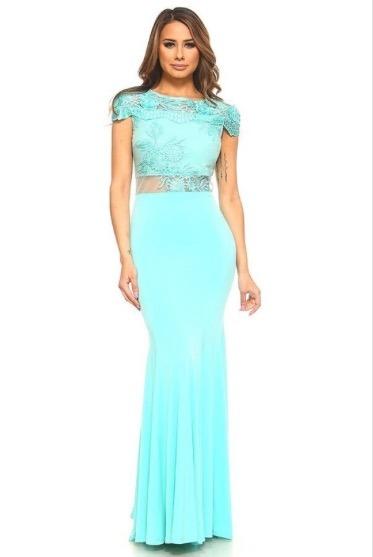 b5f215943 Vestido De Dia noche Elegante Con Envío Gratis Color Menta ...