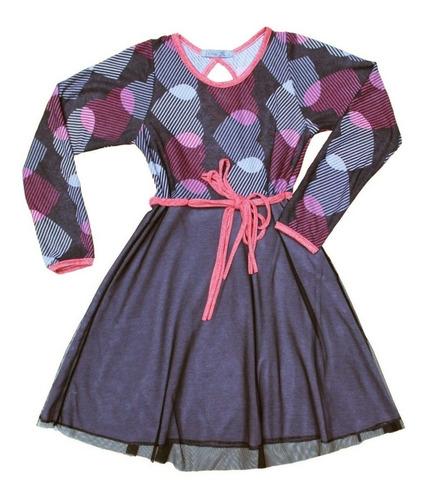 vestido de diseño para nena corazón algodón nina rabolini