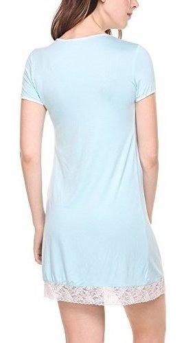 precios increibles nuevo producto Venta caliente genuino Vestido De Dormir Para Mujer Hotouch / Ropa De Dormir Azul
