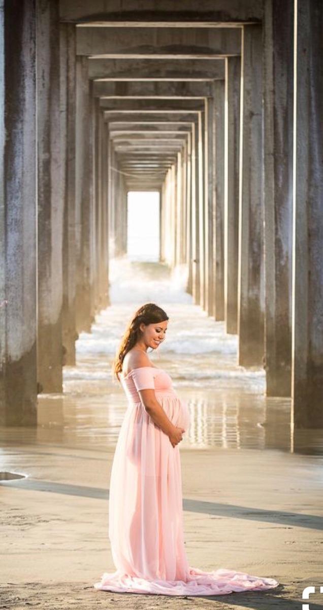 b5350c54b Vestido De Embarazo Maternidad Sesión De Fotos Rosa -   670.00 en ...