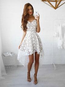Vestido De Encaje Blanco Ideal Para Playa Playero Verano