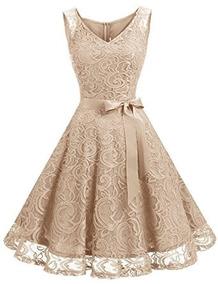 bueno compra genuina más de moda Vestidos De Encaje Color Beige Mujer - Vestidos Casual ...