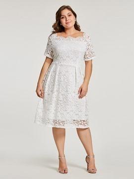 Vestido para boda talla grande