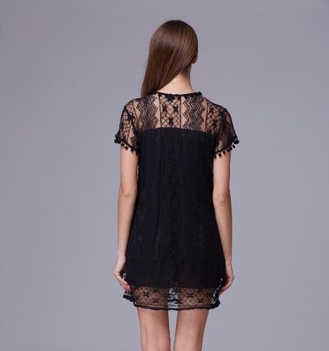 vestido de encaje importado