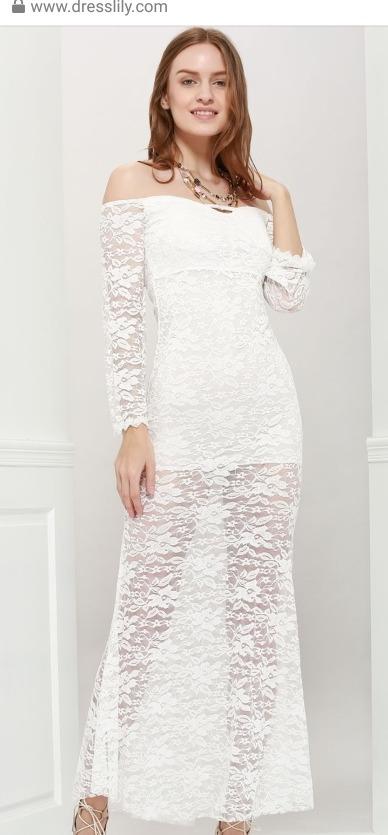 Vestido de encaje blanco para boda civil