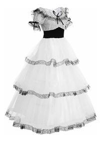 Vestido De época Victoriana Catrina Halloween Disfraz