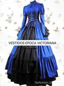 Vestido De época Victoriana Disfraz Halloween Catrina