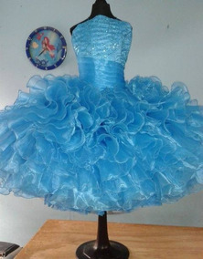 b9763753c1 Vestido Salida Sexto Azul Turquesa Vestidos Largos - Ropa