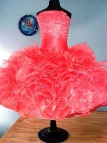 Vestido Color Coral Para Niñas Vestidos De Noche 8 En